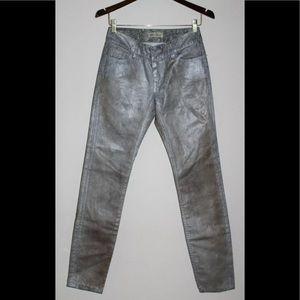 $300 Blue Pearl Allen Schwartz Painted  Jeans